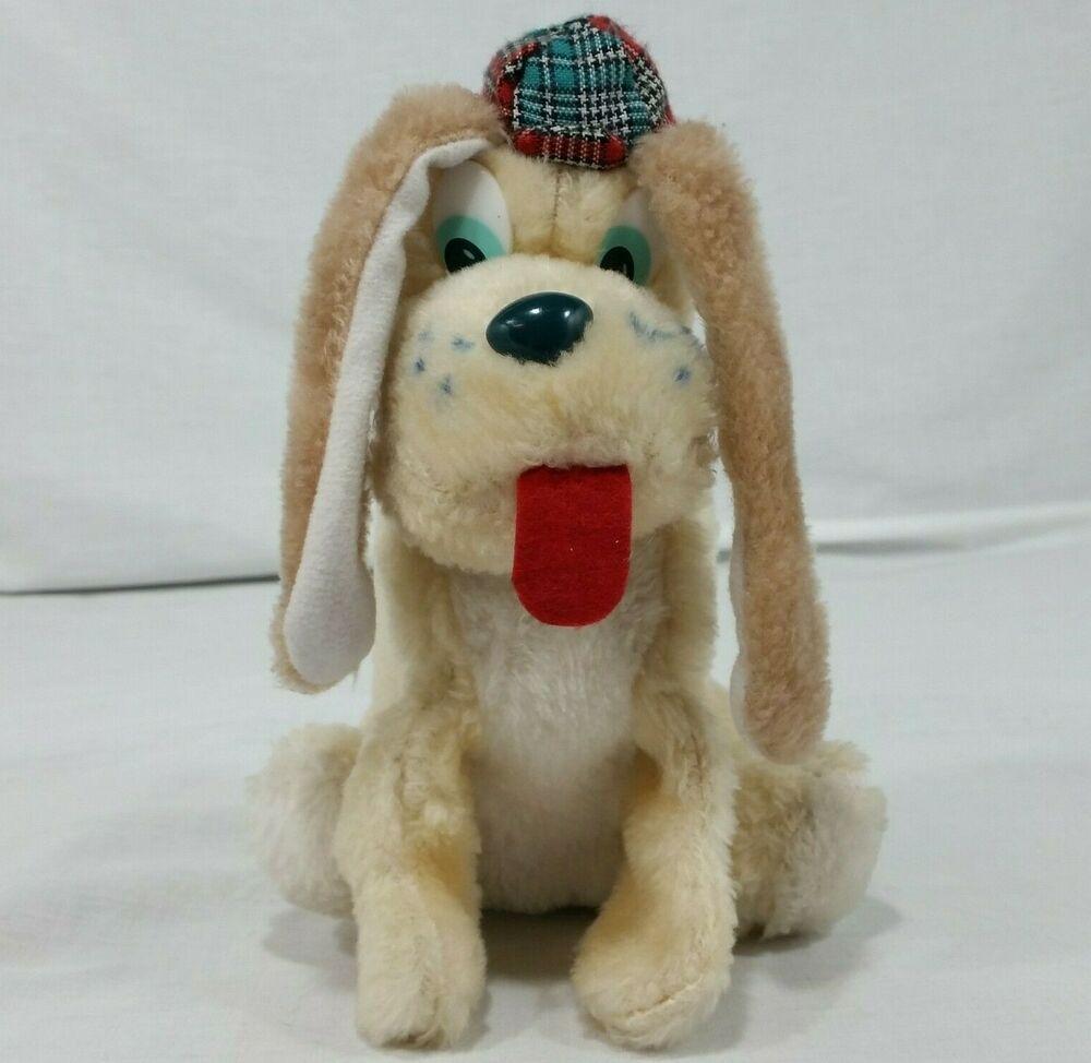 Vintage Plush Sherlock Dog Nanco Stuffed Animal Soft Toy Puppy Hat Tongue Out Nanco Plush Plushies Plushtoy Softt Soft Toy Animals Toy Puppies Puppy Hats [ 974 x 1000 Pixel ]