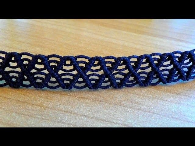 bracelet macram facile mod le arceaux diy pinterest macram pulseras macrame y. Black Bedroom Furniture Sets. Home Design Ideas