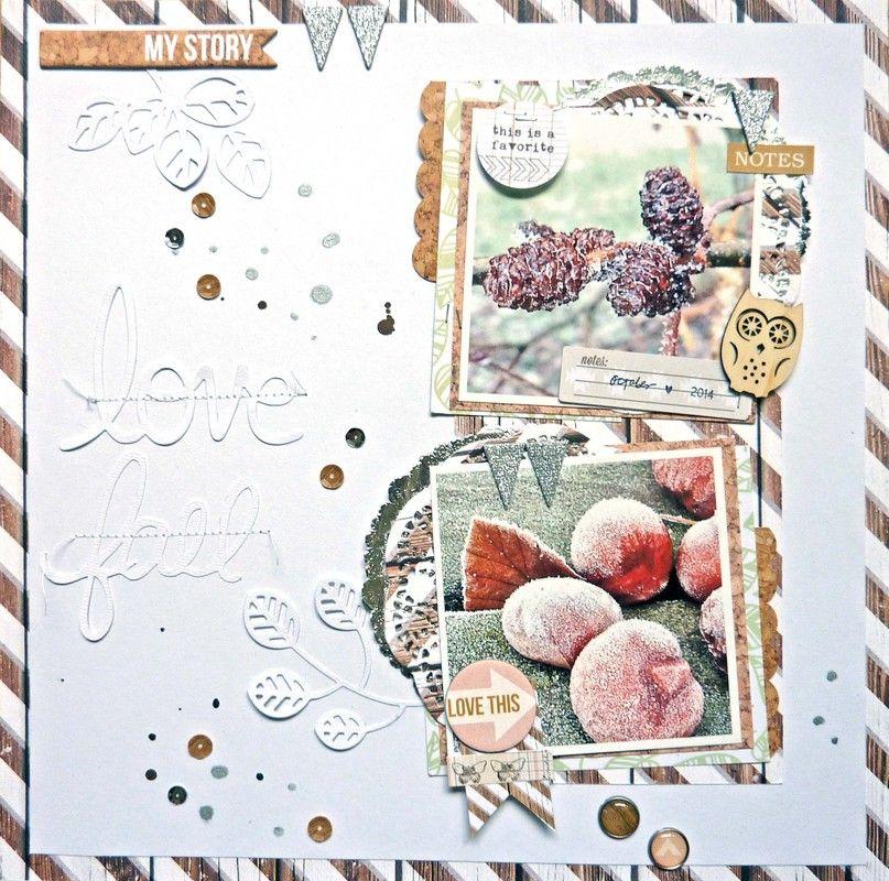 #papercraft #scrapbook #layout. love fall by Anke Kramer at @studio_calico