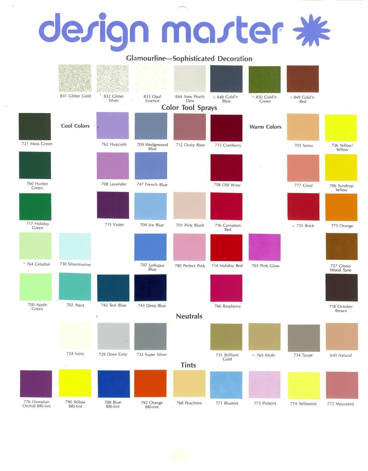 Home dm color design master spray paint colors