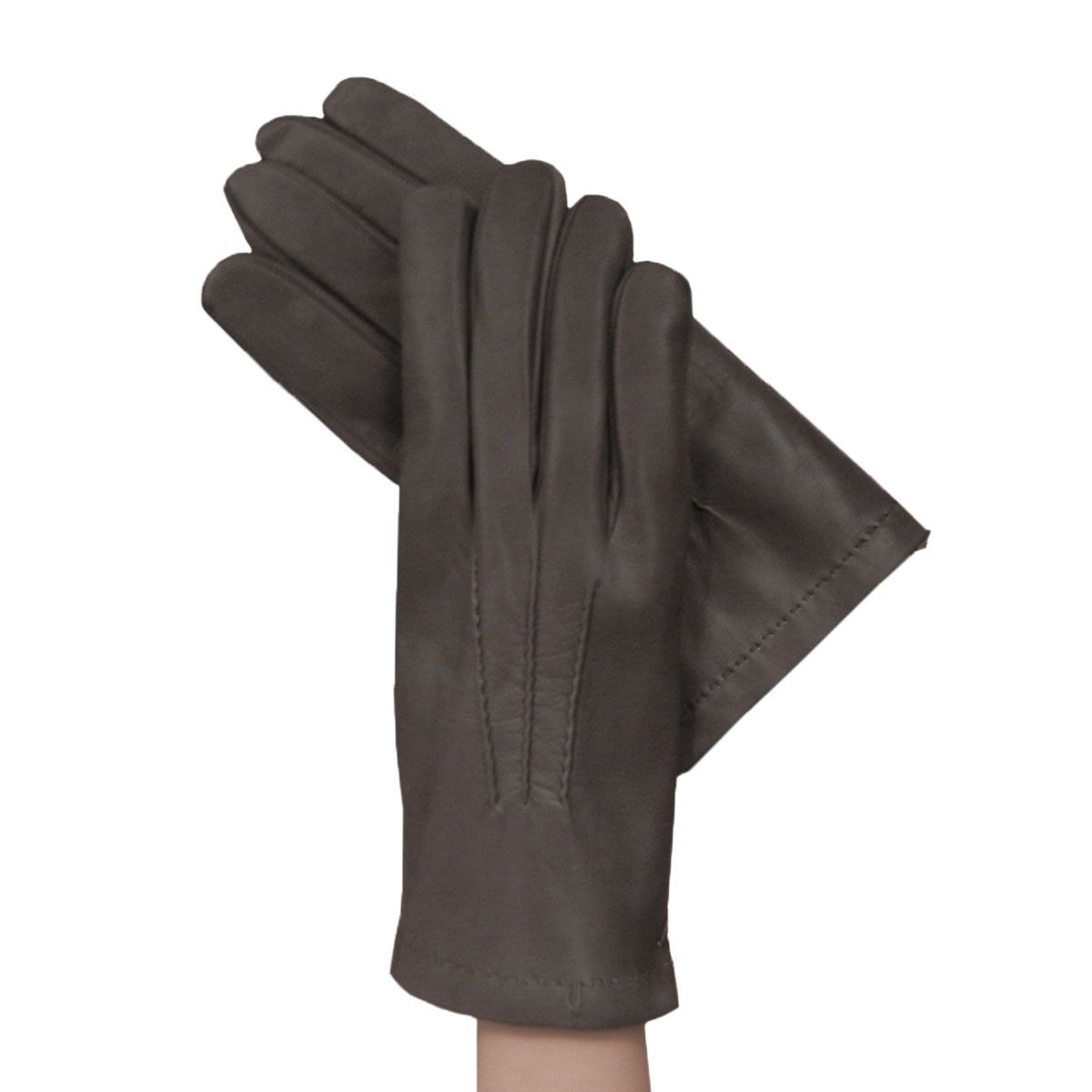 Black leather gloves lined with cashmere - Men S Grey Italian Kidskin Leather Gloves Have Hand Stitched Feature Lined With Soft Warm Cashmere For The Cold Winter Days Grey Leather Dress Gloves For