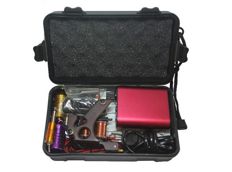 Kit Machine A Tatouer Professionnel beginner tattoo starter kits 2014 kit tattoo complete machine with