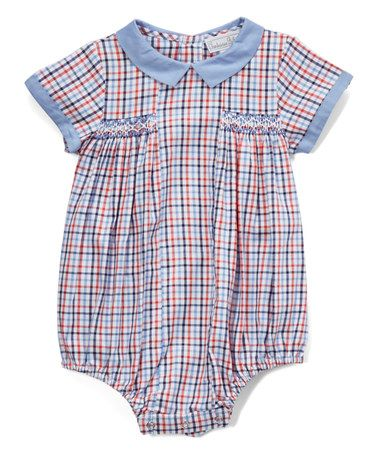 c064f8d691f1 Blue Gingham Smocked Bubble Bodysuit - Infant by Fantaisie Bebes   zulilyfinds