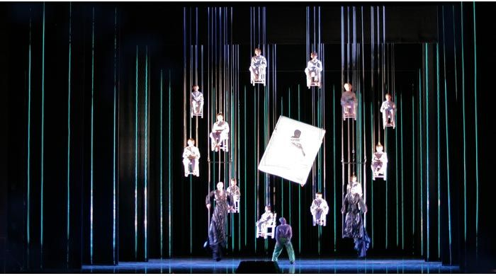 A MIDSUMMER NIGHTS DREAM  Benjamin Britten  Hamburg Staatsoper 2006  Director: Simon Phillips / Lighting: Nick Schlieper / Video: Burst TV