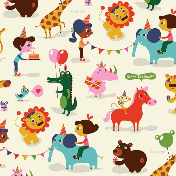 Bambino Circus - pattern by helen dardik