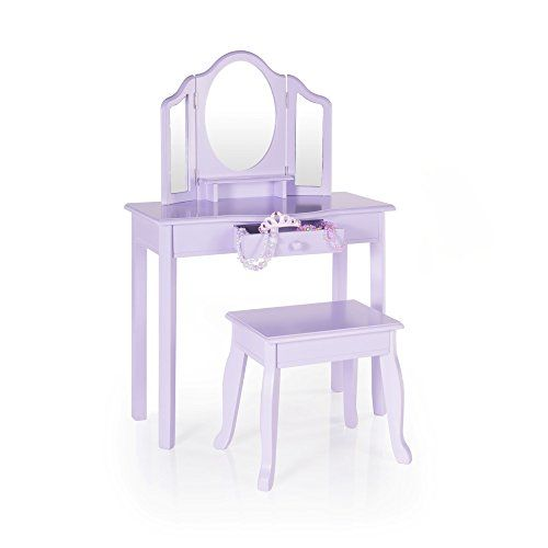 Guidecraft Vanity And Stool Children S Furniture Lavender G87404 See This Great Product Kids Wooden Table Pink Vanity Kids Vanity