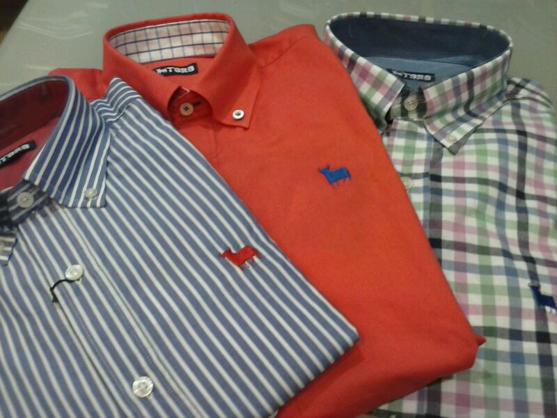 Camisas TORO al 30 % de descuento.