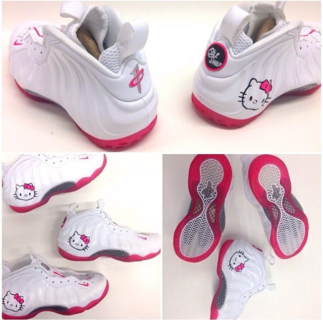 new arrival 129b5 d1d0f  soleswap Hello kitty custom foamposite   ShoeGame   Pinterest   Sneaker  heads, Nike air and Clothing