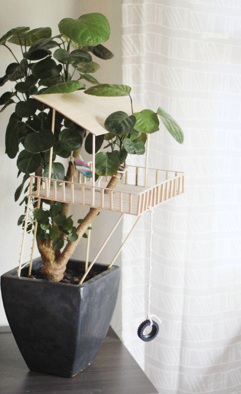 Kid Craft // Tiny Treehouses