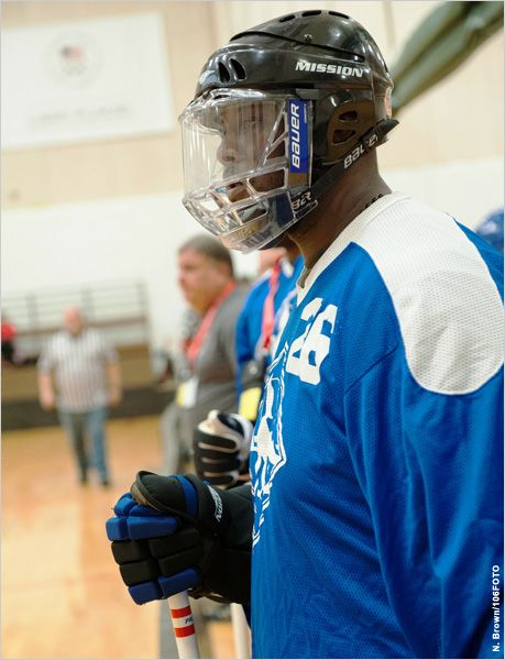 Floor Hockey Gives Player Winning Attitude (Courtesy of N. Brown/106FOTO)