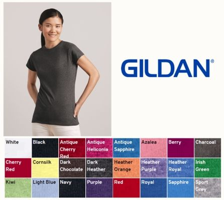 Gildan 64000L Ladies SoftStyle Tee from NYFifth