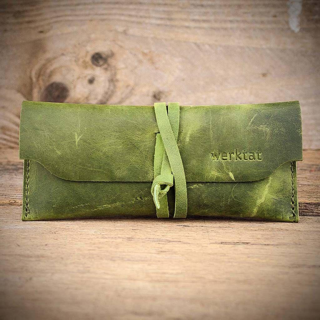 werktat Leder Brillenetui grün, Werkschutz WT0810 | Brillenetui ...