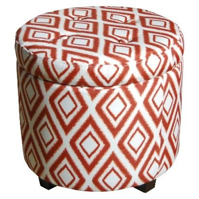 Threshold Round Tufted Storage Ottoman Copper Ikat Storage Ottoman Tufted Storage Ottoman Ottoman