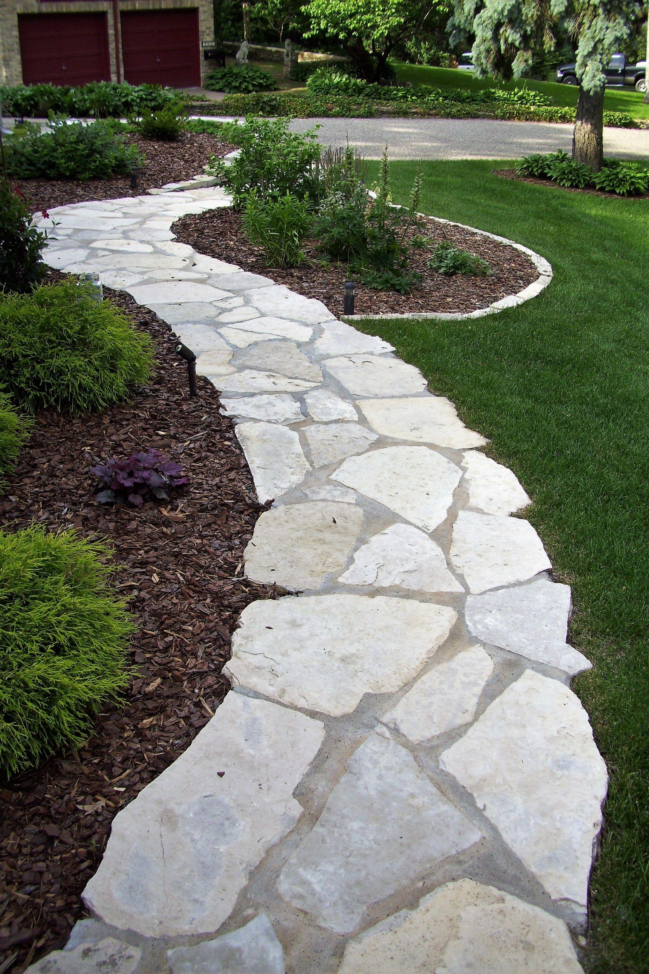 Fond Du Lac Limestone Walkway Pathway Backyard Walkway
