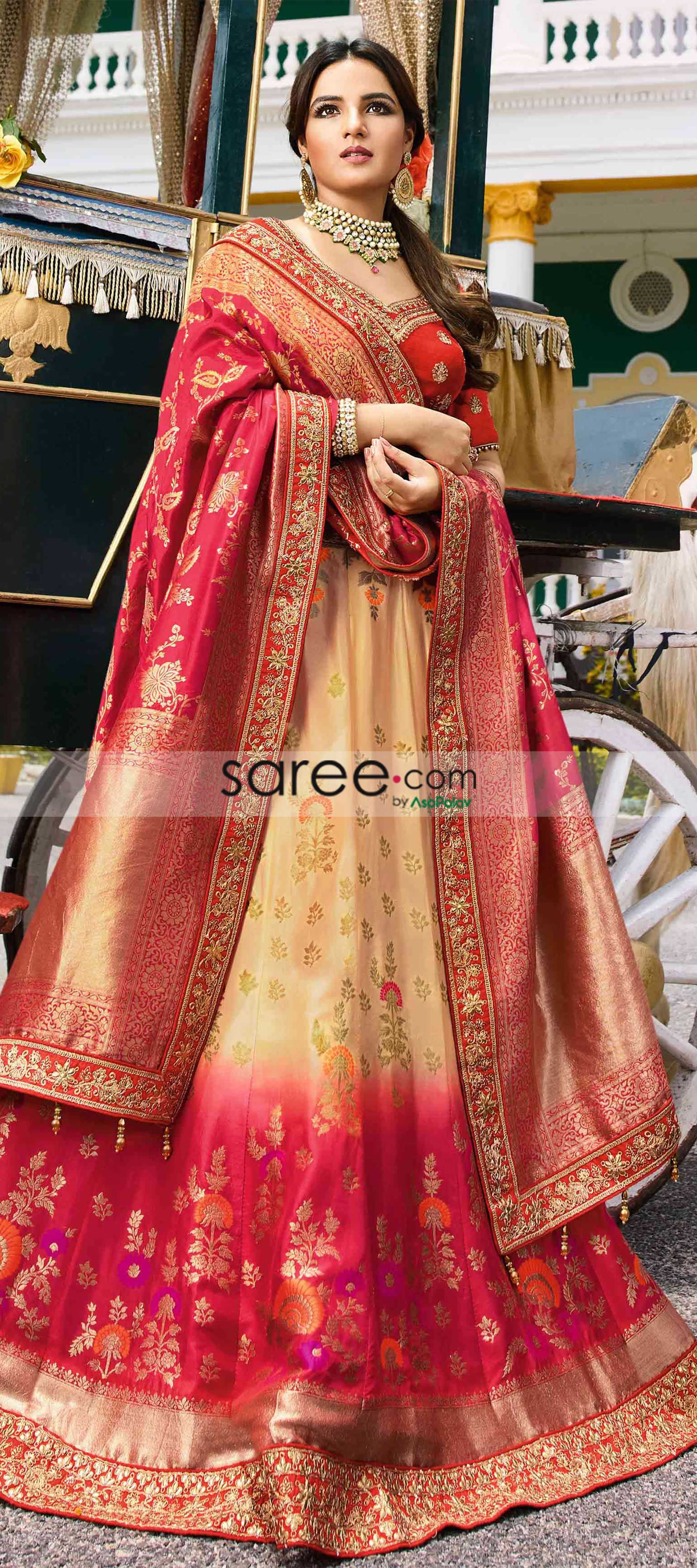 06ec80ae6d Latest and Trendy Ombre Lehenga Choli Design Radiant Lehenga and Blouse  Designs for Ravishing Wedding Guests and Brides