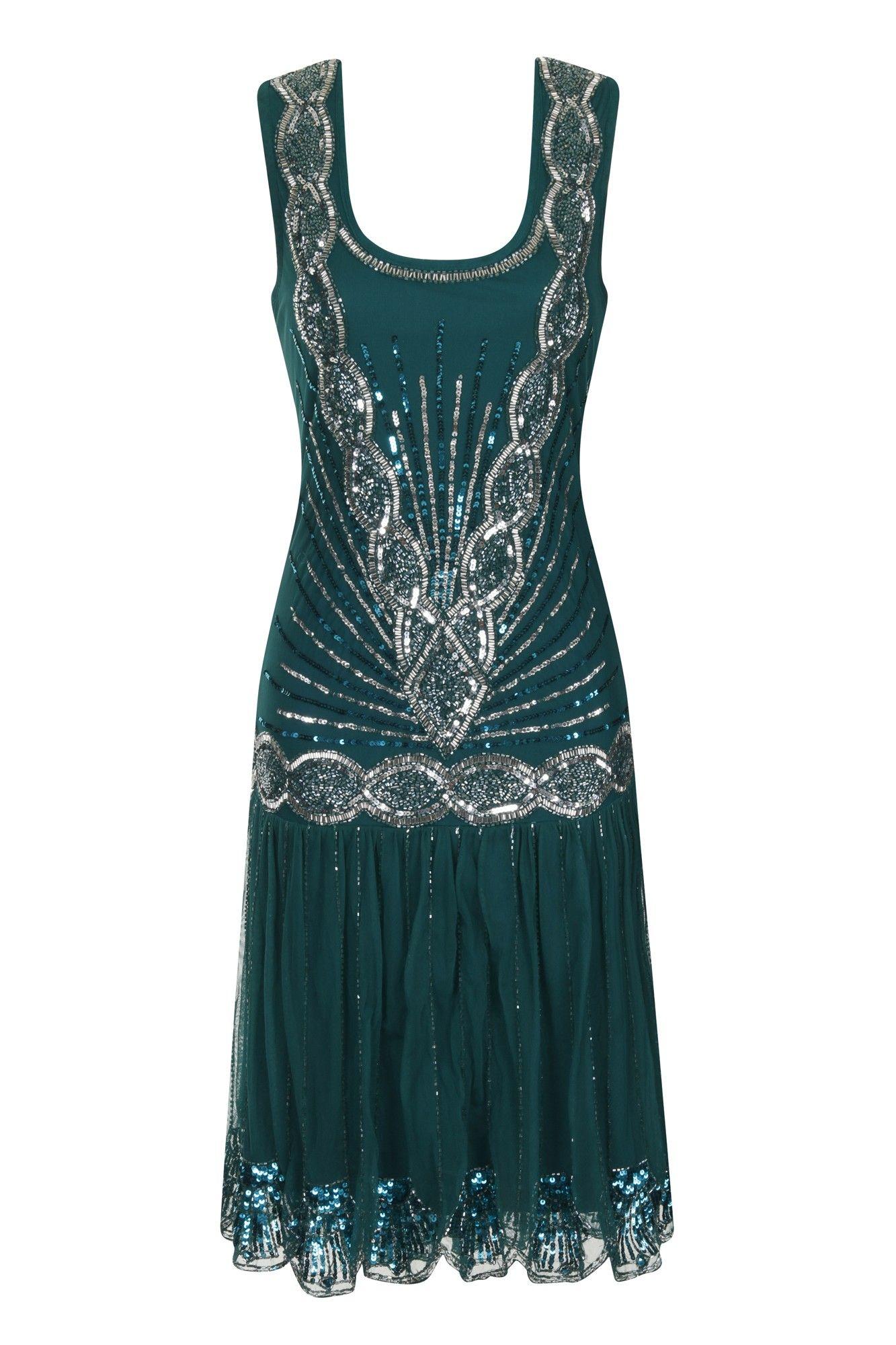 Dresses Og Dress Dresses Zelda Fashion Couture Flapper 20s Emerald qBRFR4
