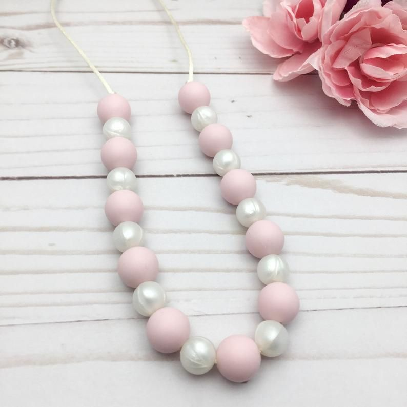 Toddler Teething Necklace Kids Chew Necklace Non Toxic Etsy Toddler Necklace Handmade Beaded Jewelry Silicone Necklace