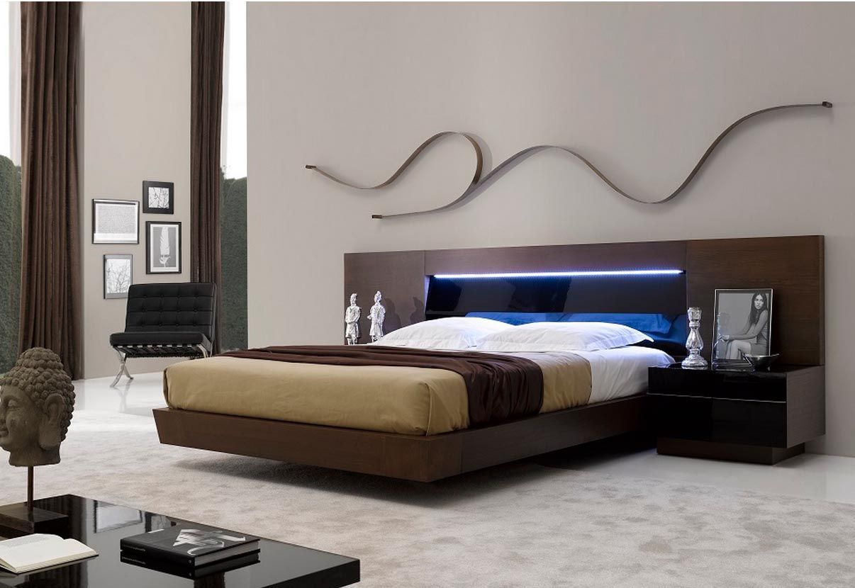 J M Barcelona Premium Bed With Led Headboard 17932 Modern