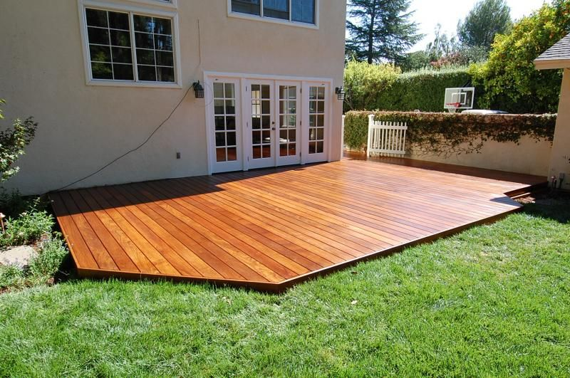 Build a low deck on the ground google search pinteres for Garden decking and grass