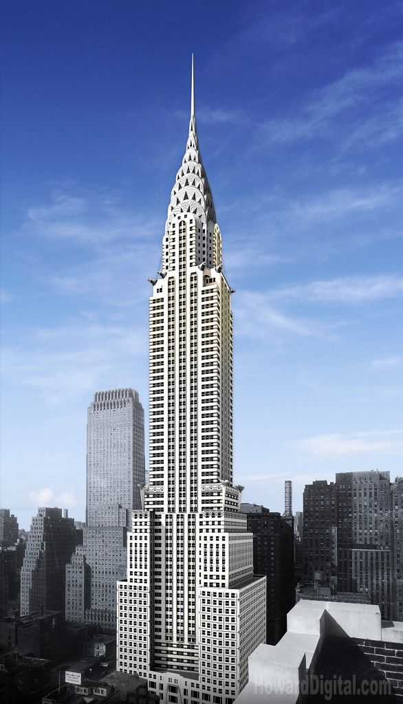 chrysler building 1930 art deco style manhattan new