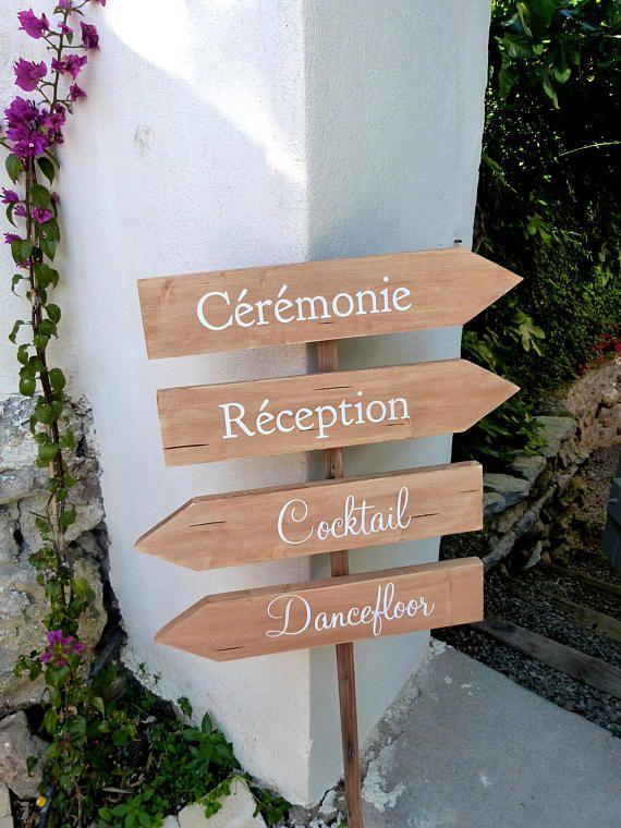 panneaux direction pour mariage fl che personnalisables. Black Bedroom Furniture Sets. Home Design Ideas