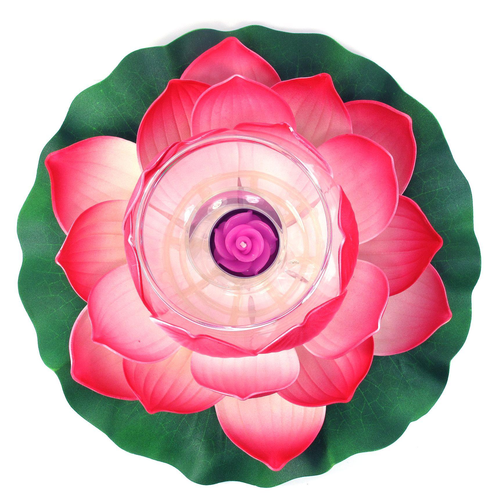 Floating Lotus Flower Tealight Candle Holder Red Lotus Lite