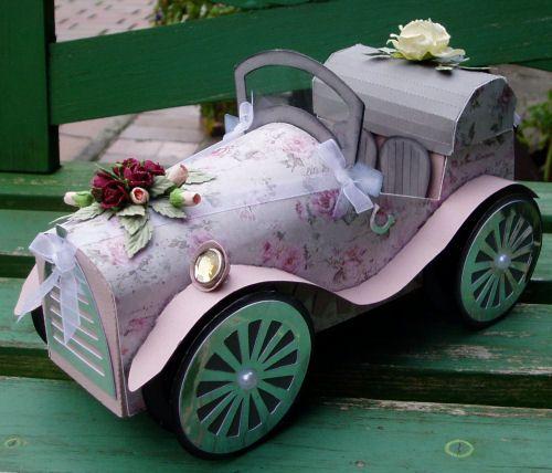 Pin von Ingrid Cattelan auf Silhouette Cameo  Hochzeitskutsche Auto basteln und Hochzeit auto