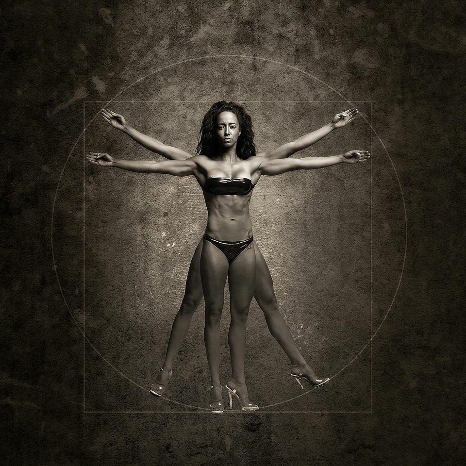 Vitruvian Man Leonardo da Vinci Model Lady Dane Photographer Jim ... for Bodybuilding Art Photography  585eri