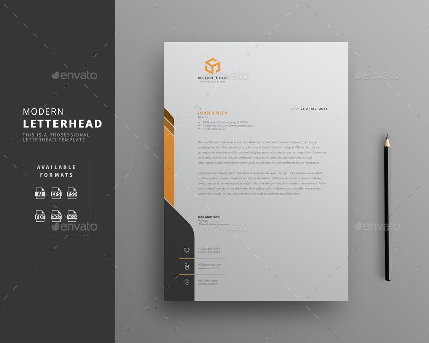 15+ Creative Professional Letterhead Template Word RINTU MONI - corporate letterhead