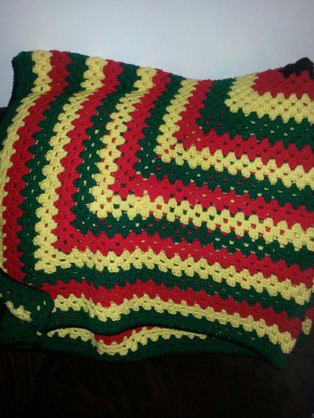 Crochet Blanket Rasta Colors Crochet Ideas Crochet