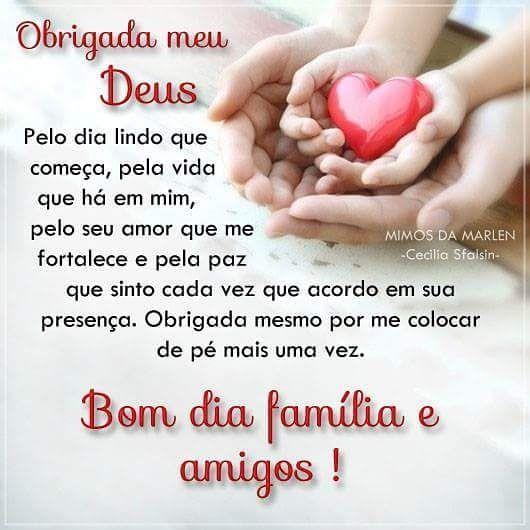Bom Dia Gratidão Dialindo Agradecer Paz Amor Frases Fé