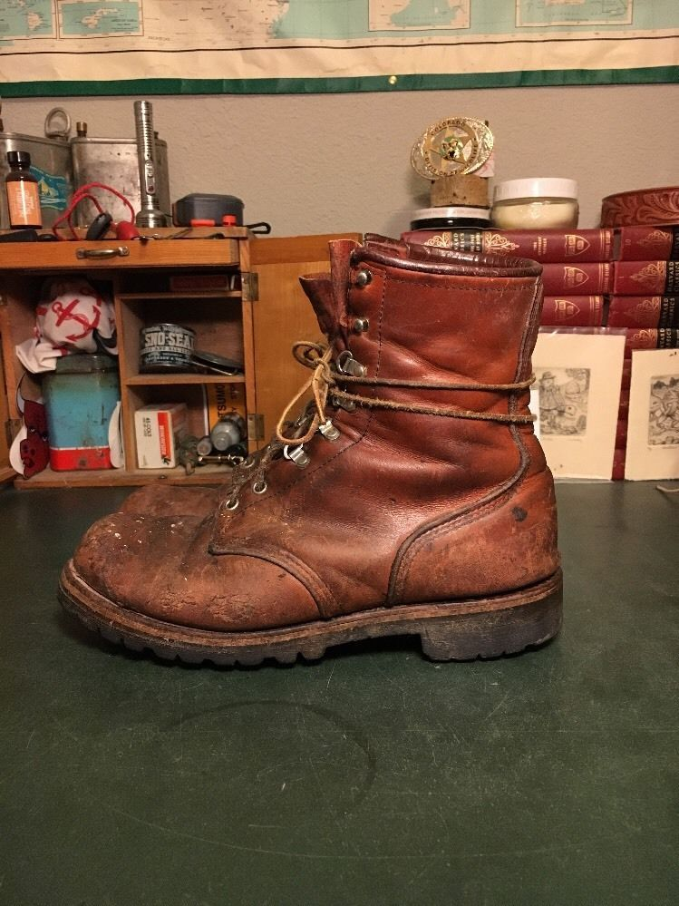 8daf3123347c9 Men's Vintage Red Wing Irish Setter Sport Work Hunting Boots ...