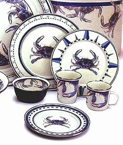 Blue Crab Enamelware Dinnerware  sc 1 st  Pinterest & Blue Crab Enamelware Dinnerware | Miscellaneous Kitchen Items ...