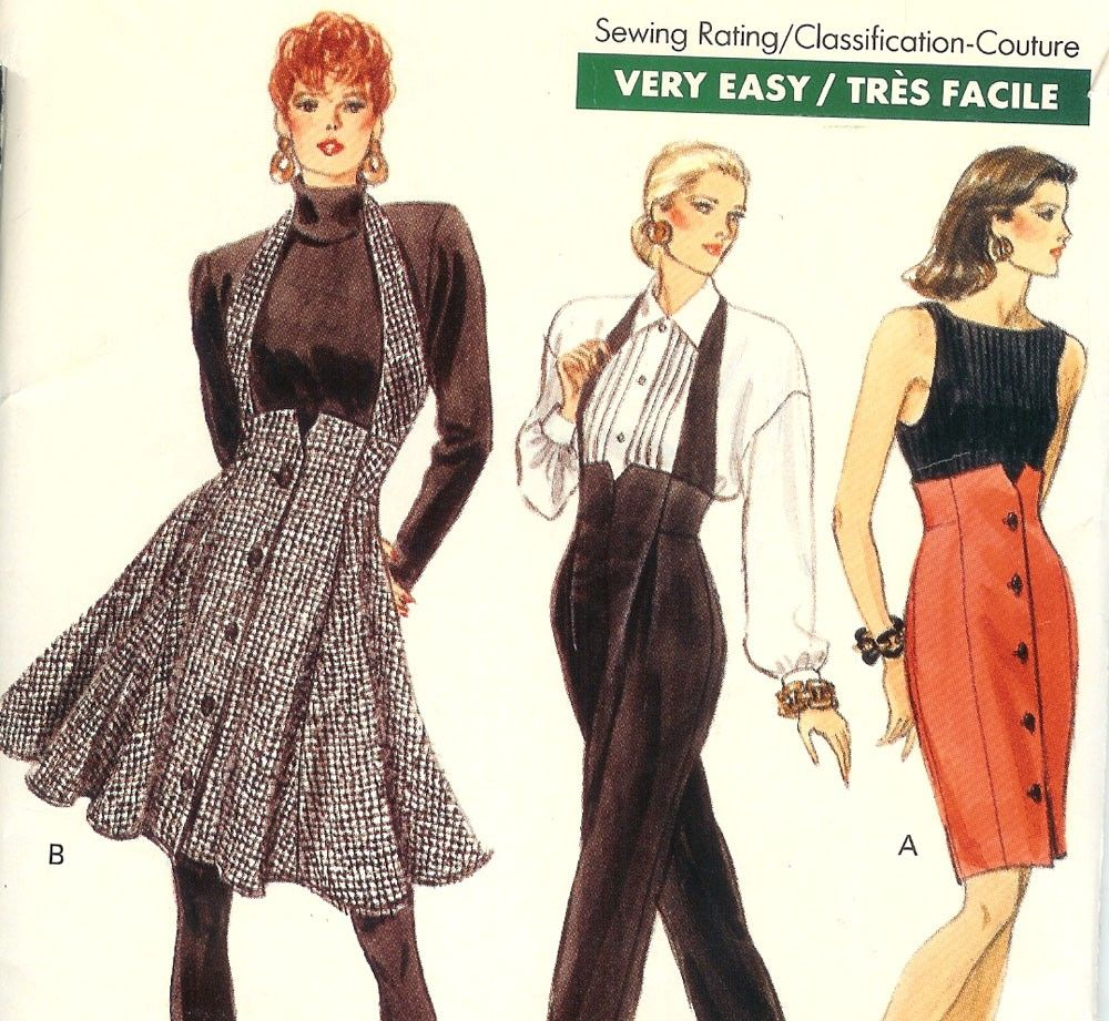 1980sVery Easy Very Vogue Sewing Pattern - High Waisted Skirt or ...