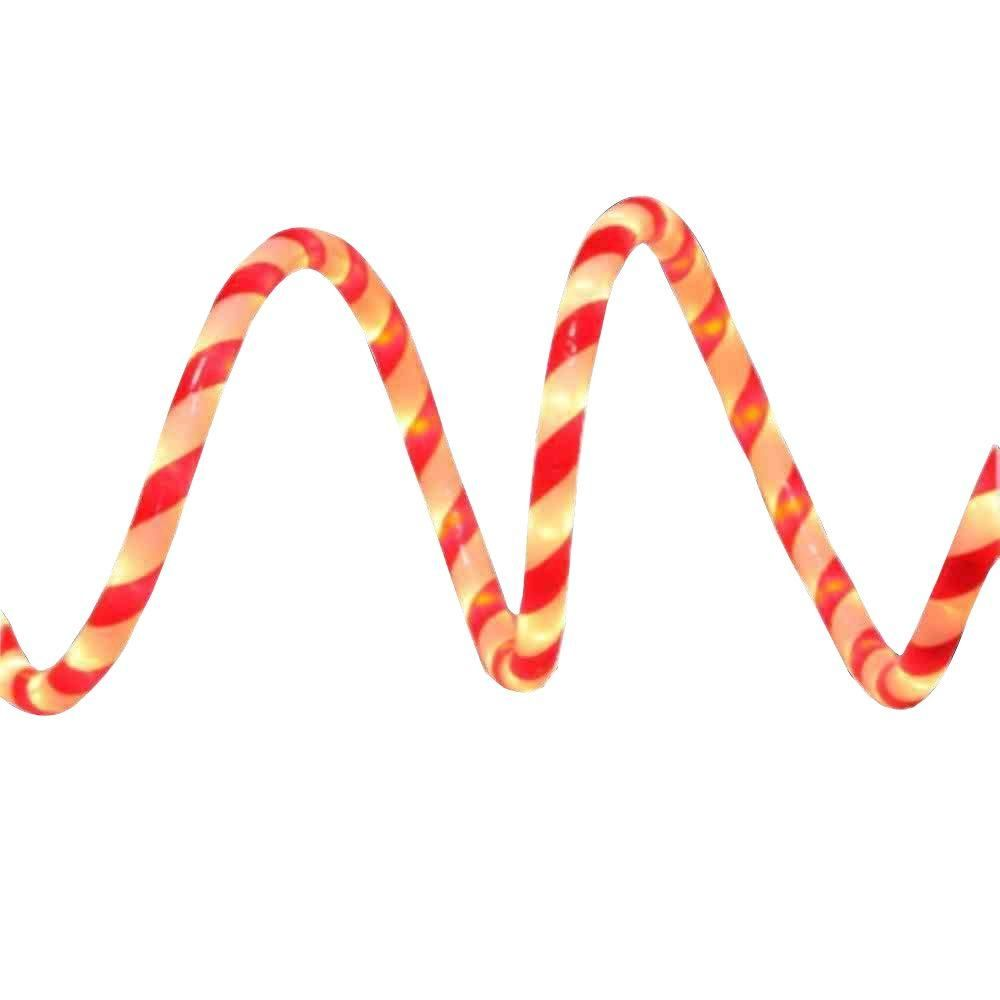 Home Accents Holiday 18 ft. Red and White Candy Cane Rope Light ...