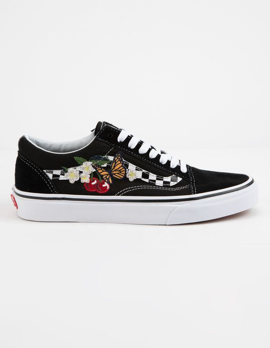 d51391cffe VANS Checker Floral Old Skool Womens Shoes | clothes in 2019 | Vans ...