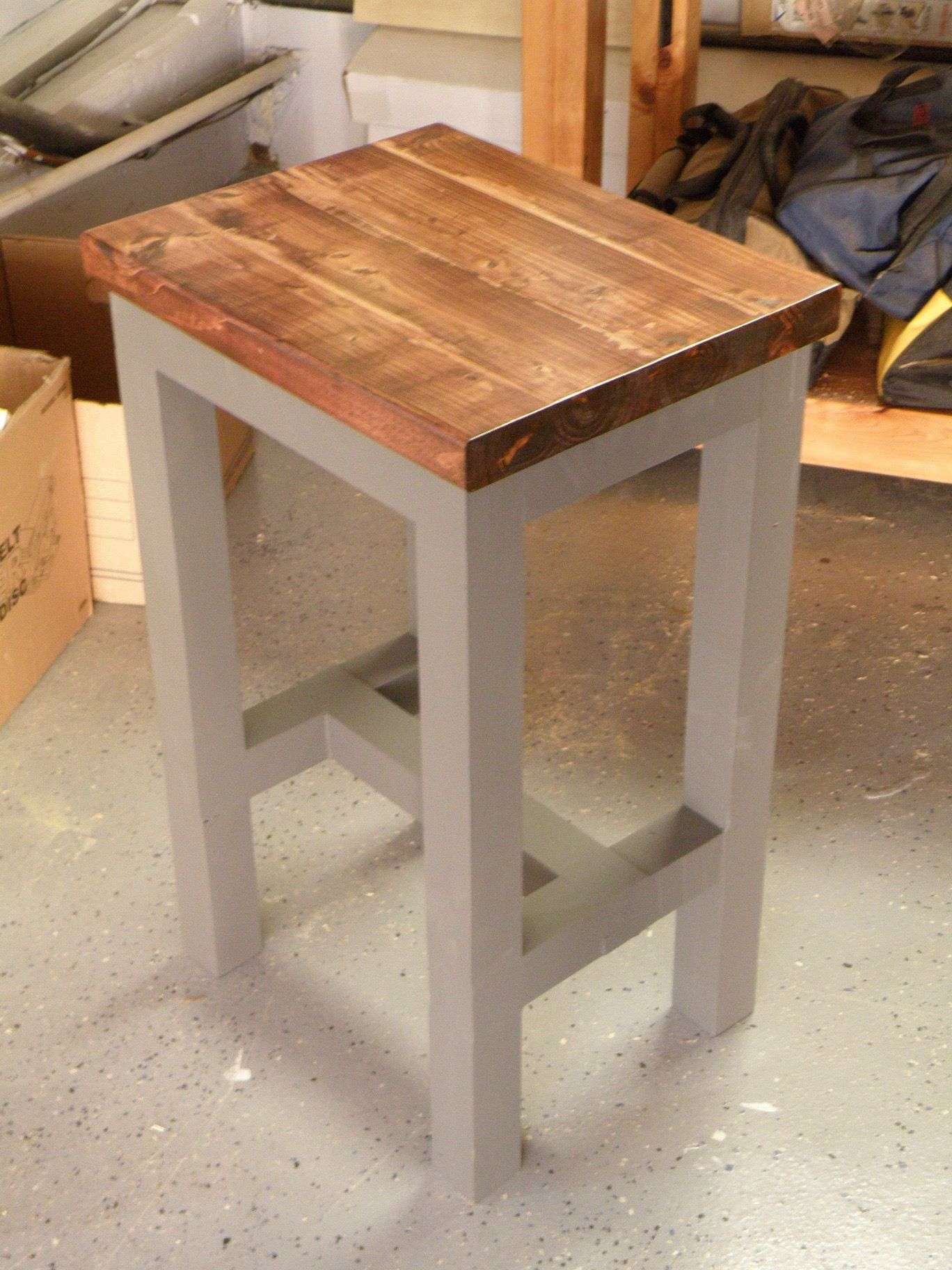 f084166b3da Work Shop Bench Stool with Mortise and Tenon Joints Farmhouse End Tables