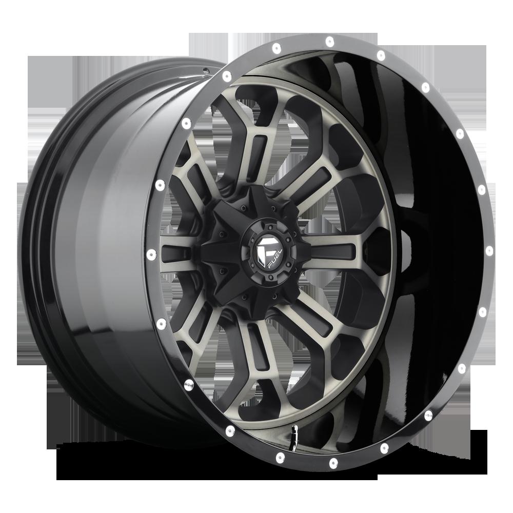 One fuel crush black machined wheel rim