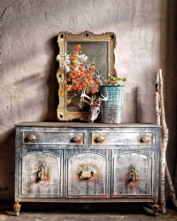 Patina Painted Furniture by All Shabbed Out   Ideas & Inspiration- Salvaged Inspirations