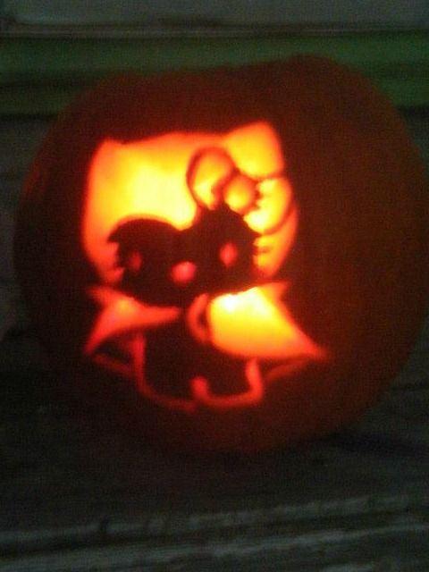 hello kitty batman pumpkin halloween rh pinterest at
