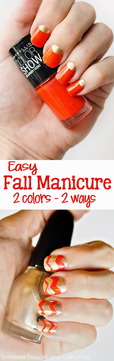 Two colors - 2 ways. 2 Easy, High Impact Nail Polish Tricks | DIY ...