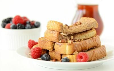Wake up on the right side of the bed with this french toast sticks recipe! Full of protein, this tasty breakfast will help start your day on the right foot!