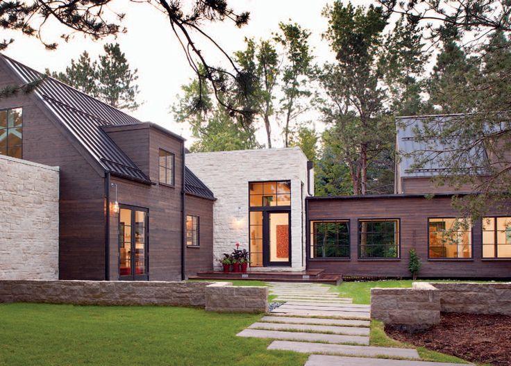 Flat Roof Contemporary Farmhouse