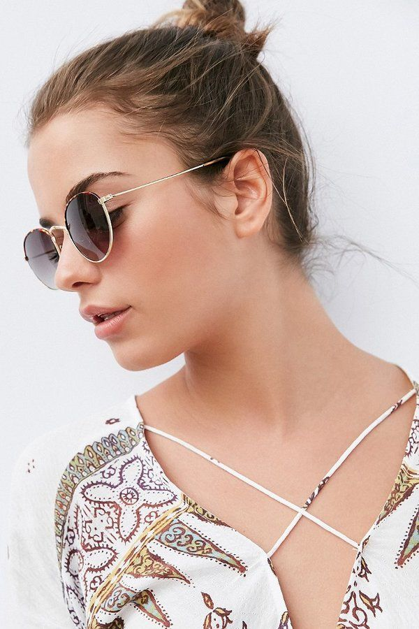 b3de8a7e50 Urban Outfitters Madeline Metal Round Sunglasses -  16 http   shopstyle.it