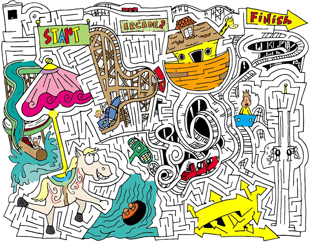 Amusement Park Maze From Mazetoons Ask Your Local