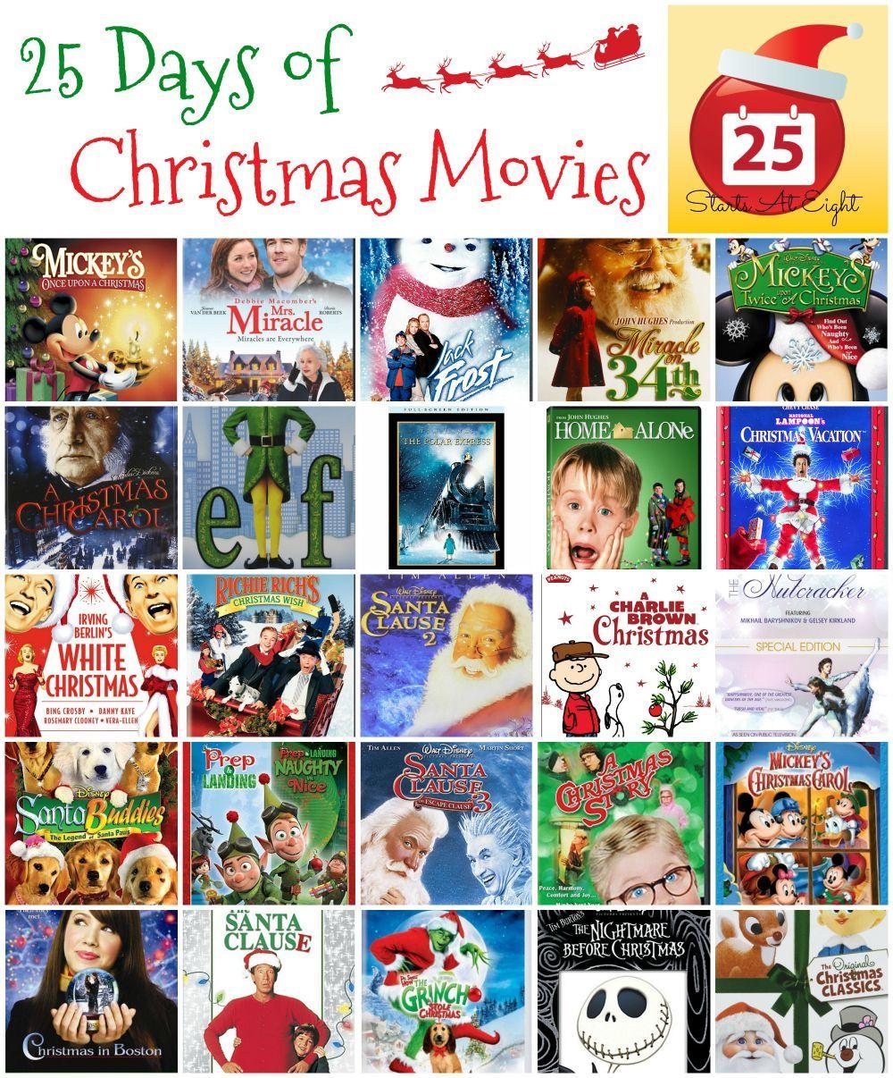 25 Days Of Christmas Movies With Free Printable List Christmas Movies Christmas Books For Kids Christmas Prep