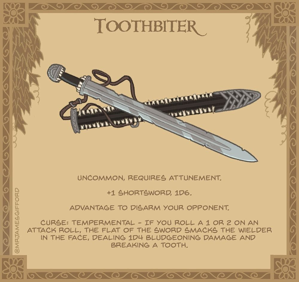 40  Toothbiter - Strangely, The scabbard of this shortsword