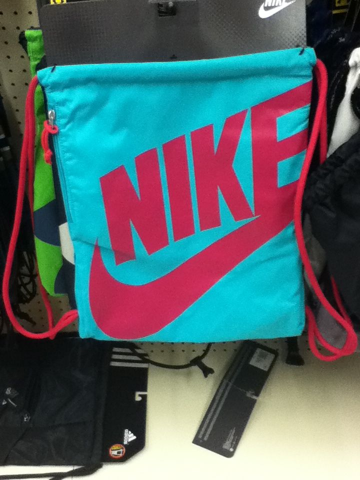 Nike Pink And Turquoise Jaw String Bag