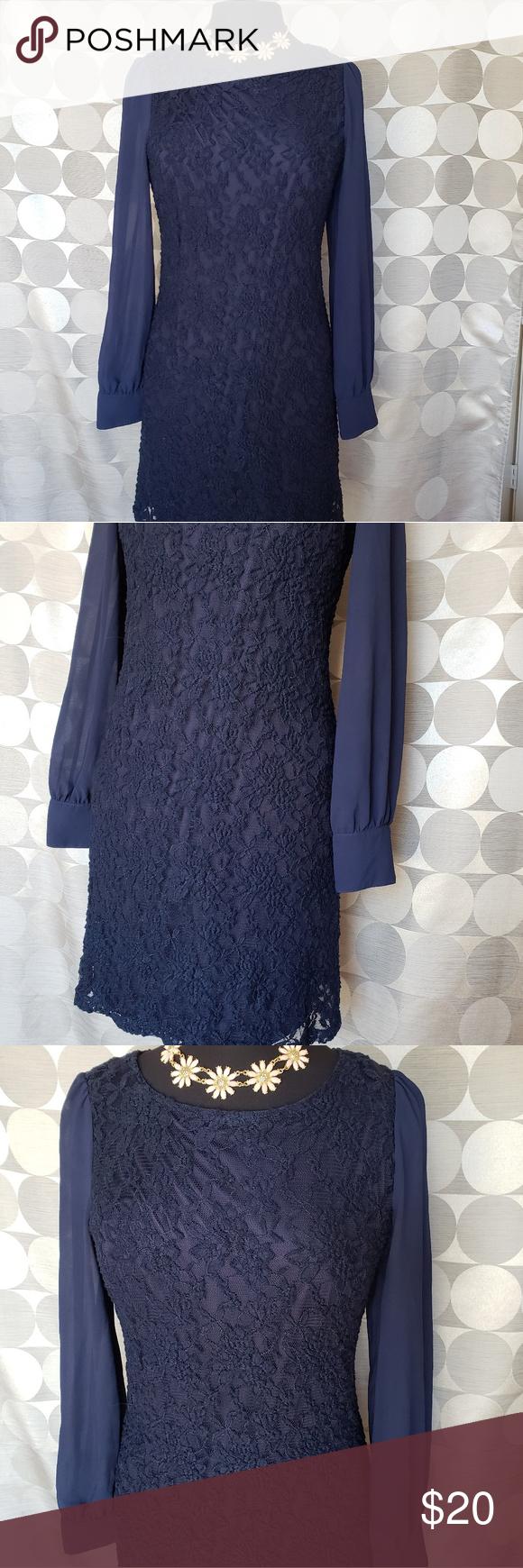 H&m blue lace dress  HuM u navy blue lace dress  My Posh Picks  Pinterest