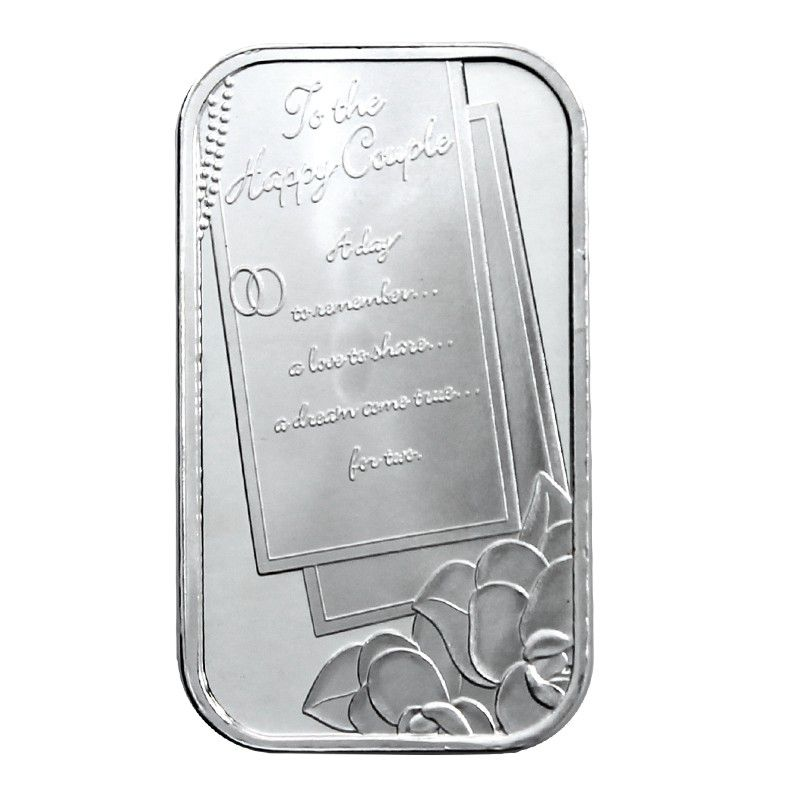 Wedding 1oz 999 Silver Bar Silver Bars Silver Pure Silver